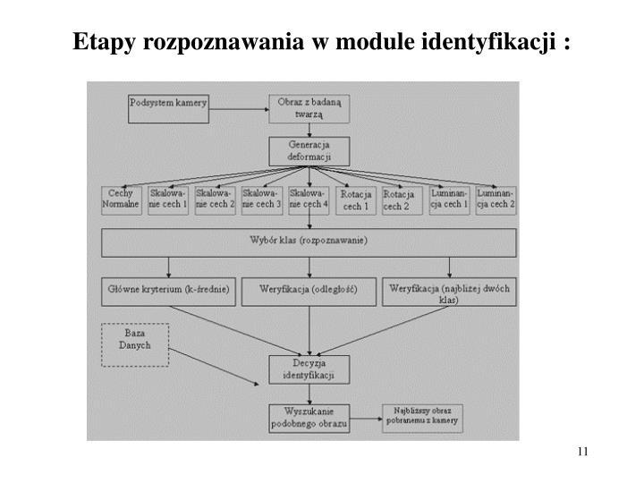 Etapy rozpoznawania w module identyfikacji