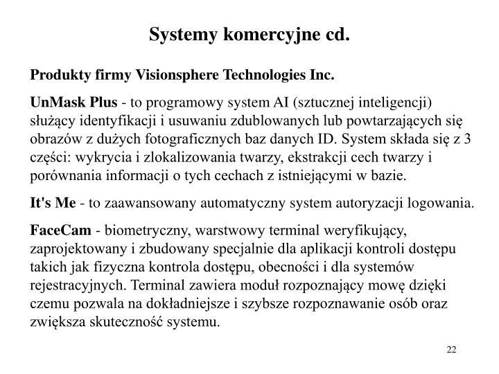 Systemy komercyjne cd.