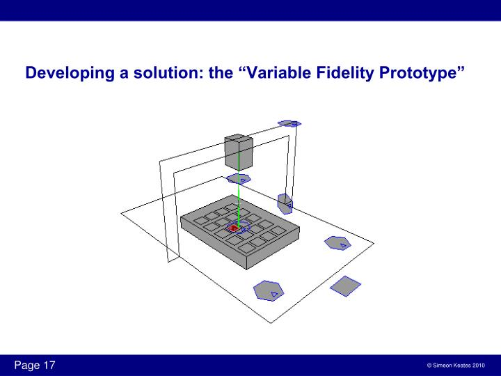"Developing a solution: the ""Variable Fidelity Prototype"""