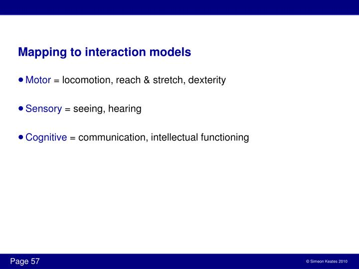 Mapping to interaction models