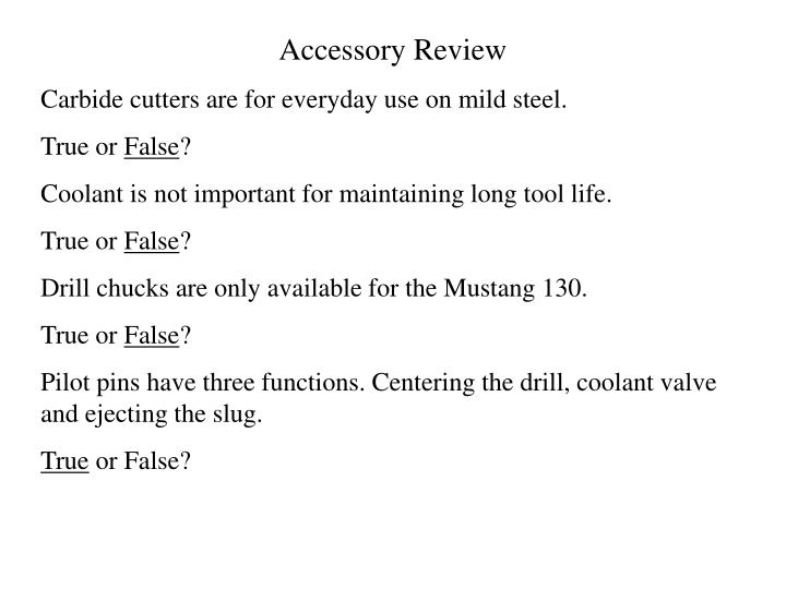 Accessory Review