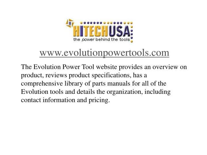 www.evolutionpowertools.com