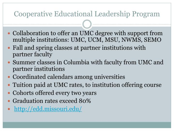 Cooperative Educational Leadership Program
