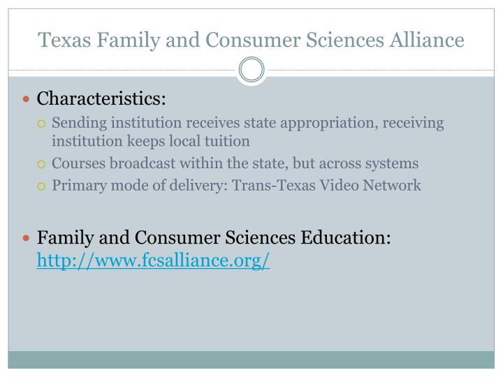 Texas Family and Consumer Sciences Alliance