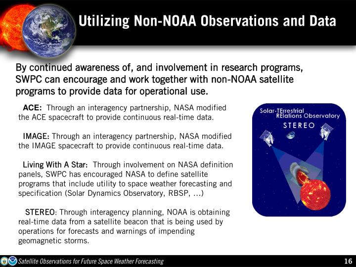 Utilizing Non-NOAA Observations and Data