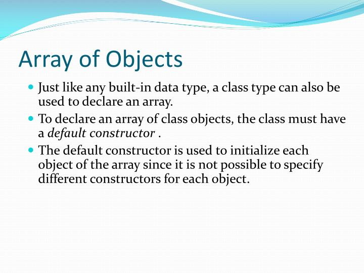 Array of Objects