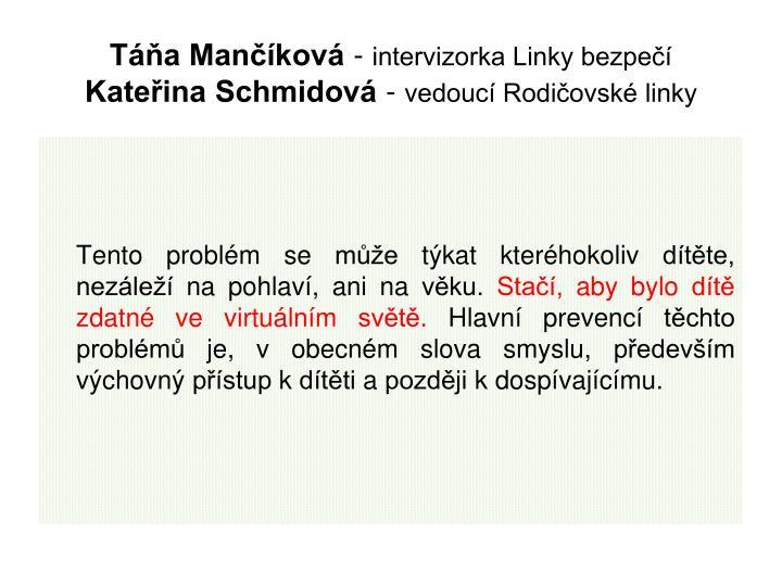 Táňa Mančíková