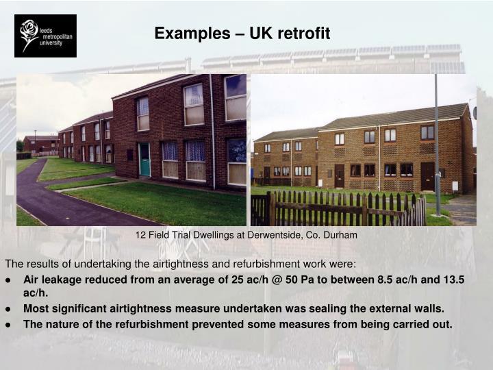 Examples – UK retrofit