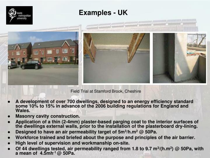 Examples - UK