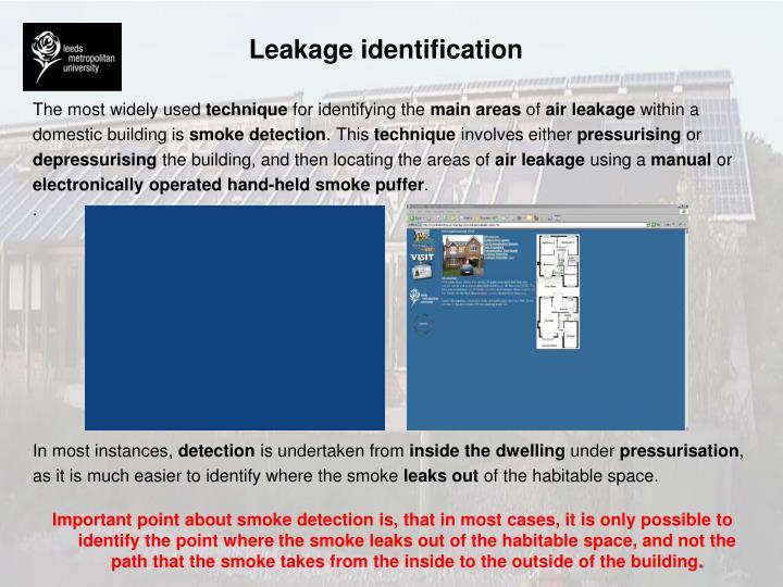 Leakage identification