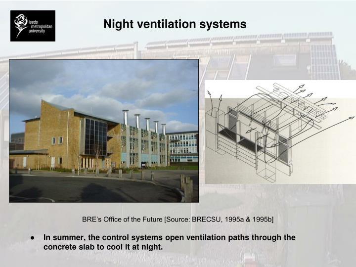 Night ventilation systems