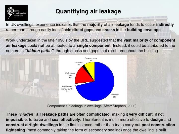 Quantifying air leakage