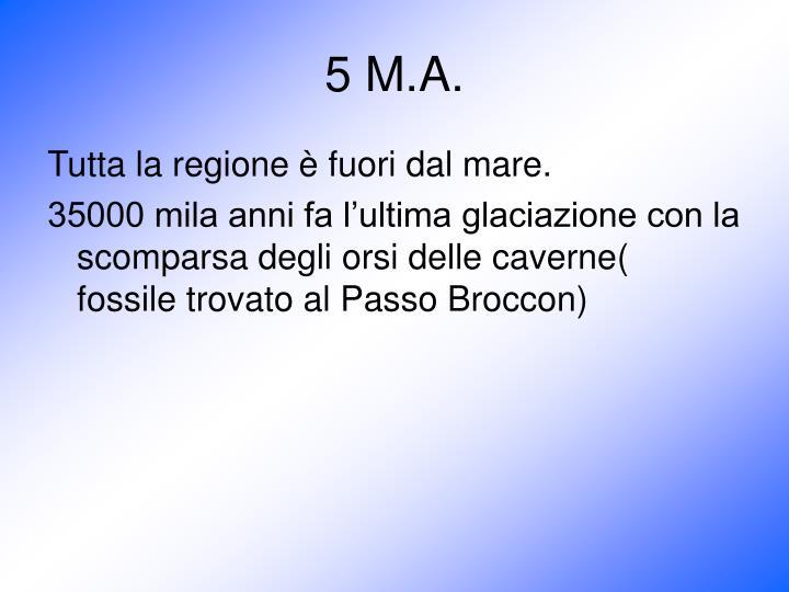 5 M.A.