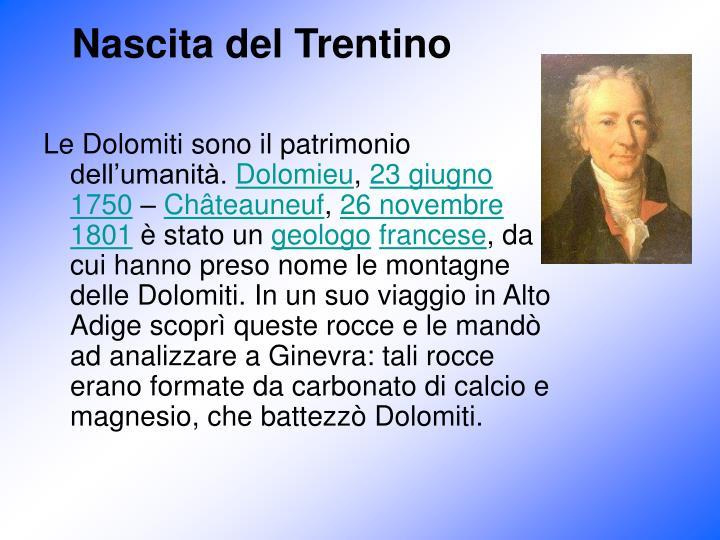 Nascita del Trentino