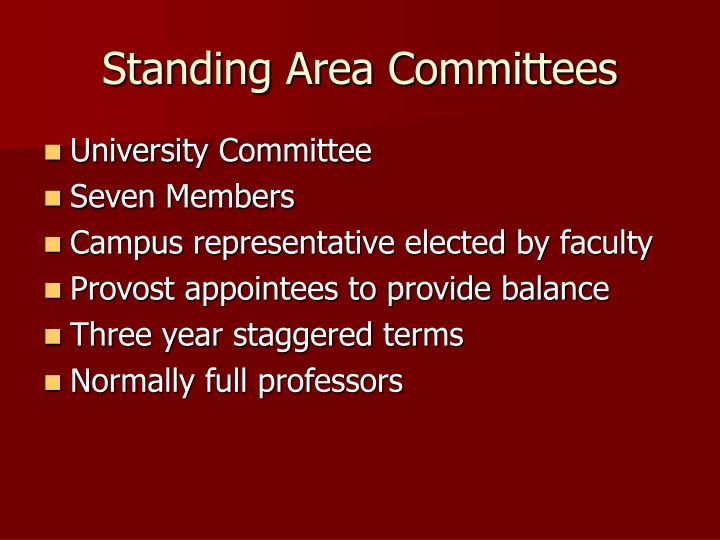 Standing Area Committees