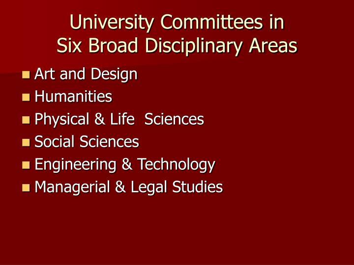 University Committees in