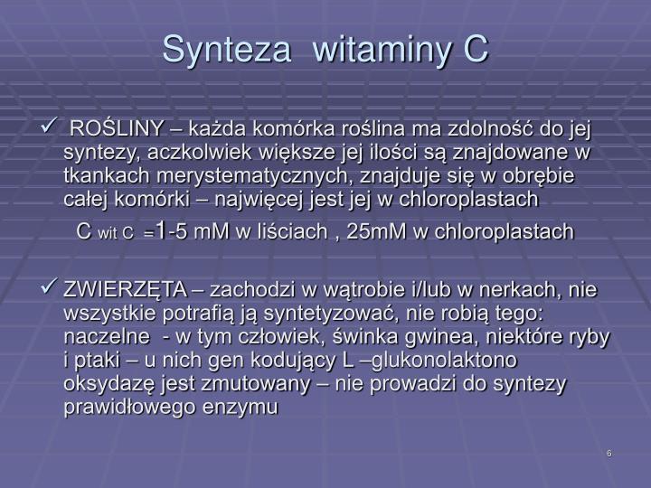 Synteza  witaminy C