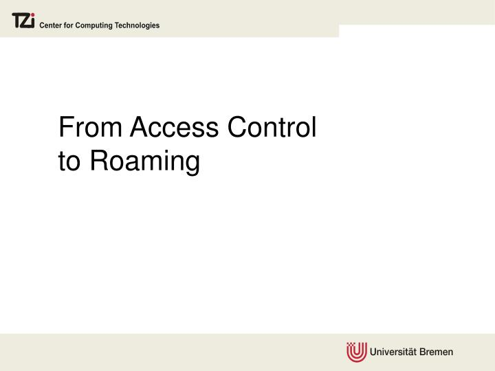 From Access Control