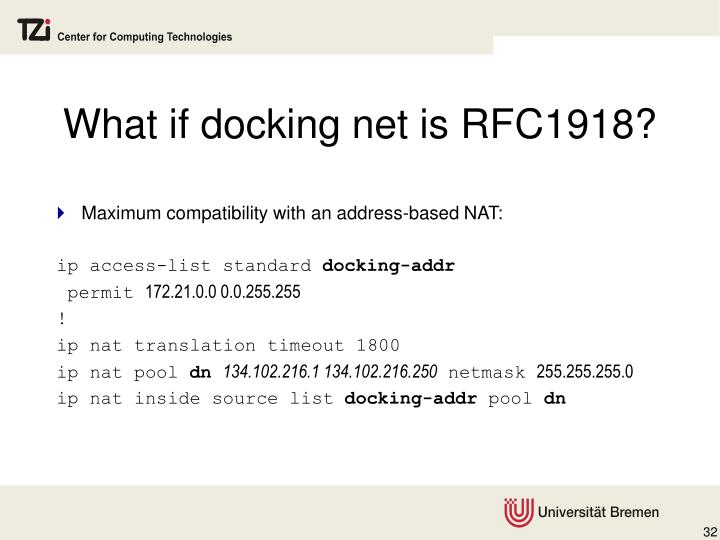 What if docking net is RFC1918?