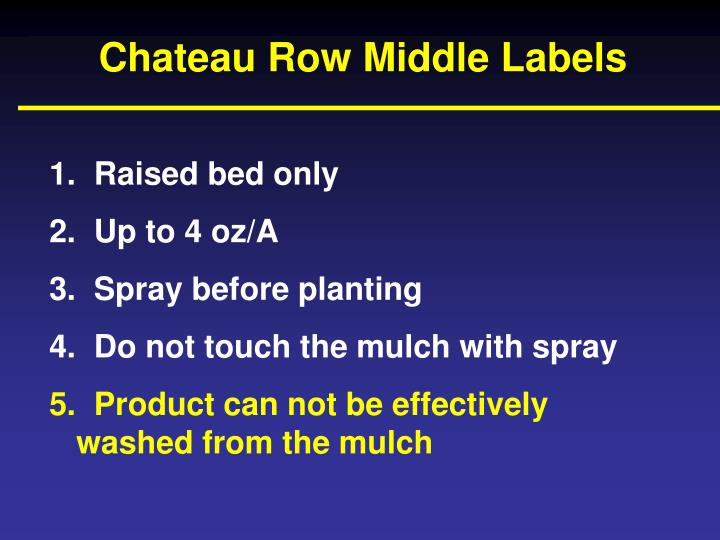 Chateau Row Middle Labels