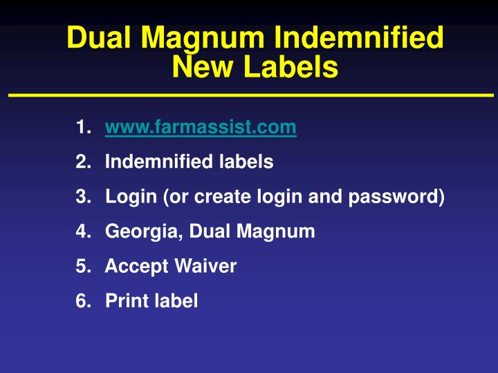 Dual Magnum Indemnified  New Labels