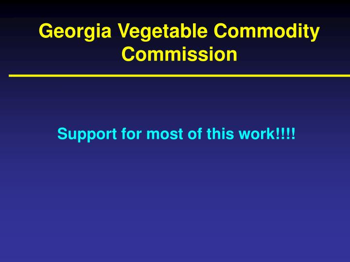 Georgia Vegetable Commodity Commission