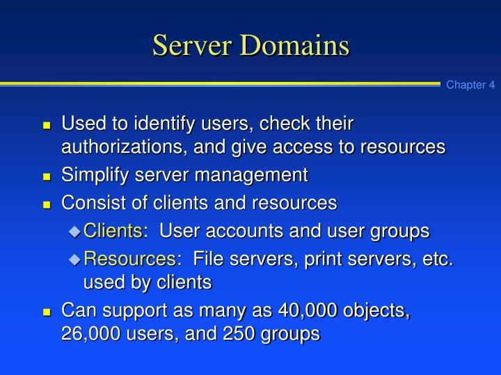 Server Domains