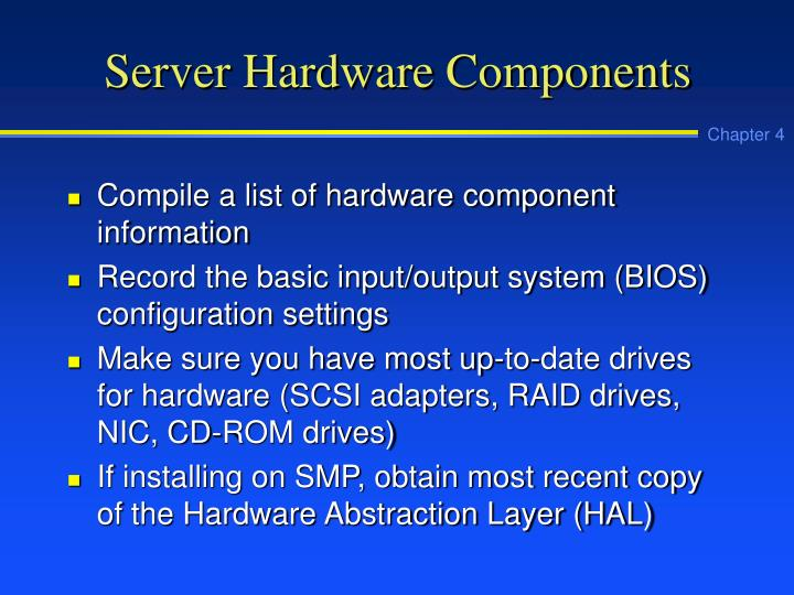 Server Hardware Components