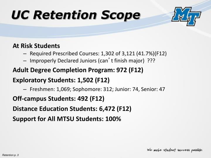 UC Retention Scope