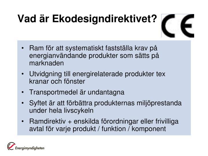 Vad är Ekodesigndirektivet?