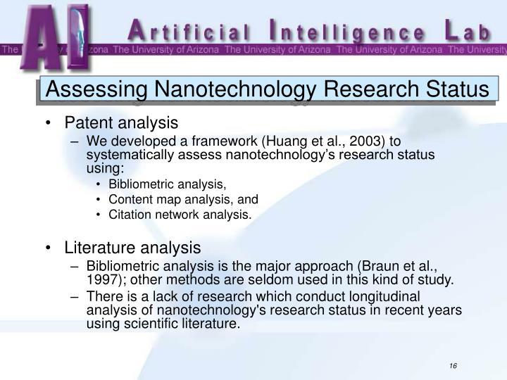Assessing Nanotechnology Research Status