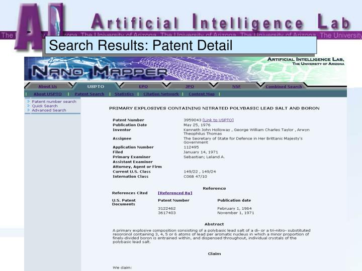 Search Results: Patent Detail