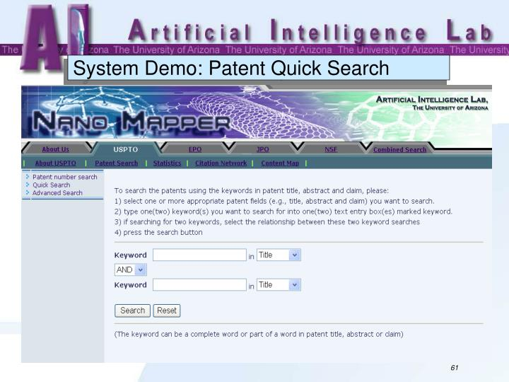 System Demo: Patent Quick Search