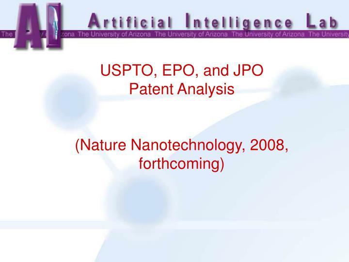 USPTO, EPO, and JPO