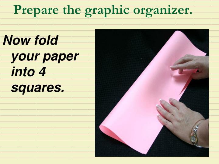 Prepare the graphic organizer.