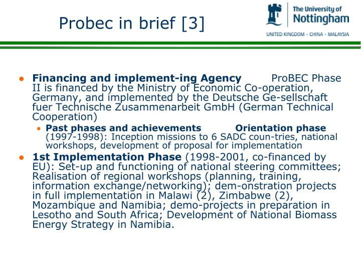 Probec in brief [3]