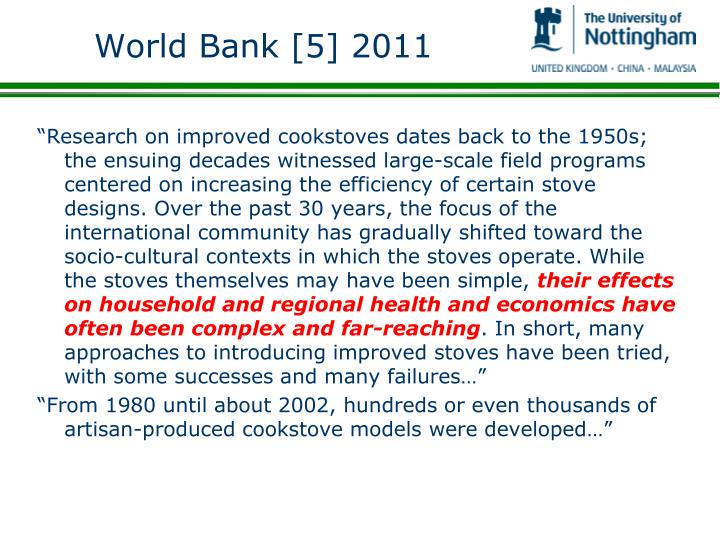World Bank [5] 2011