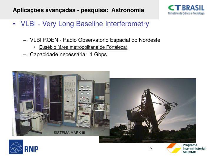 Aplicações avançadas - pesquisa:  Astronomia