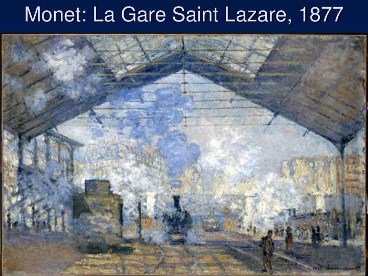 Monet: La Gare Saint Lazare, 1877
