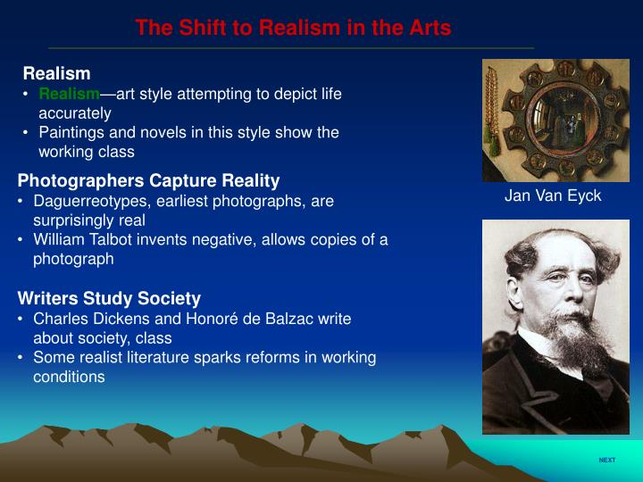 The Shift to Realism in the Arts