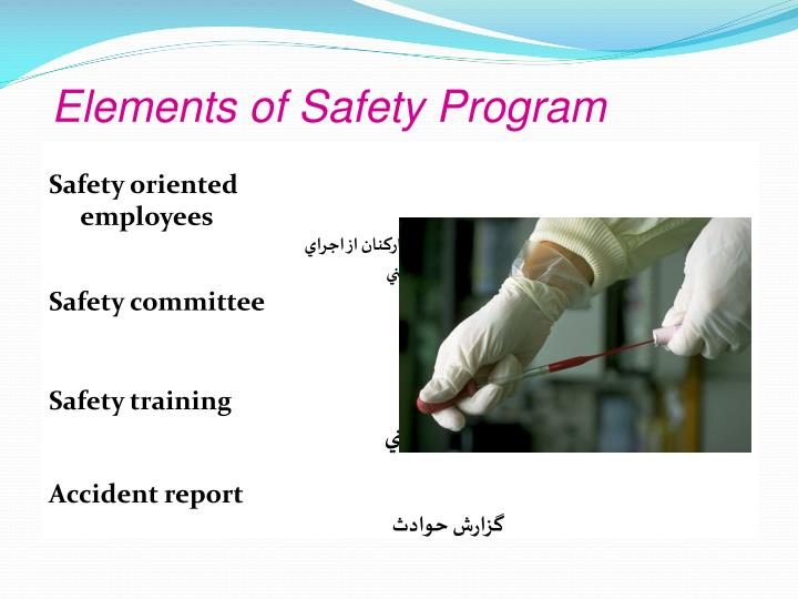 Elements of Safety Program