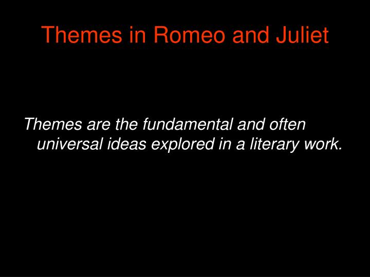 """the theme of faith in william shakespeares play romeo and juliet During william shakespeare's life it was the most favored and beloved play  history recognizes """"romeo and juliet"""", along with """"hamlet"""", the most frequently."""