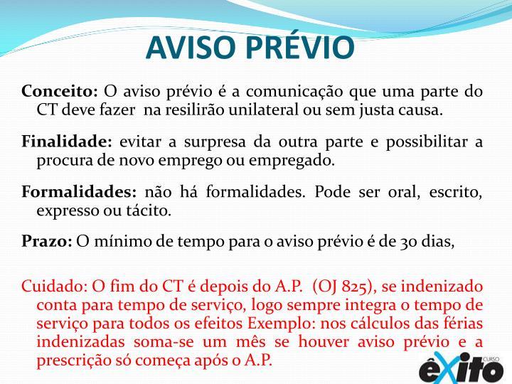 Aviso Prévio