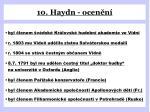 10 haydn ocen n