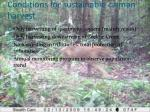conditions for sustainable caiman harvest