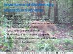 importance of biodiversity research in suriname1