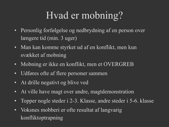 Hvad er mobning?