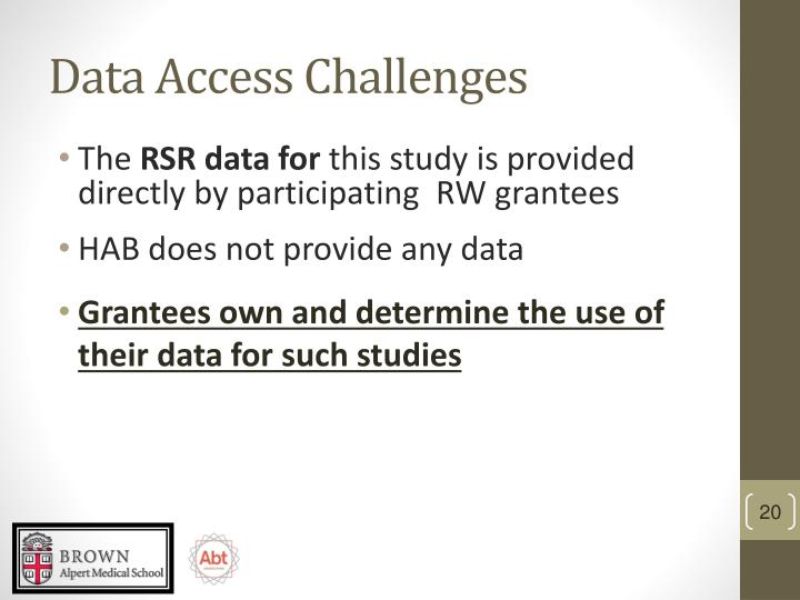 Data Access Challenges