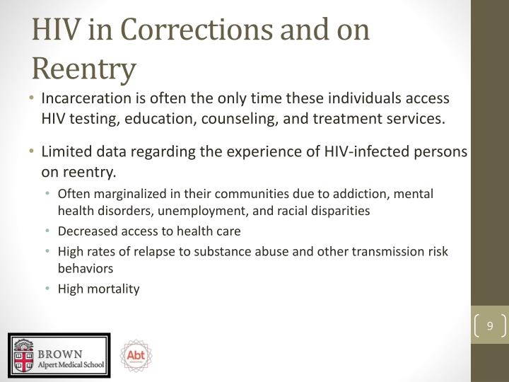 HIV in Corrections and on Reentry