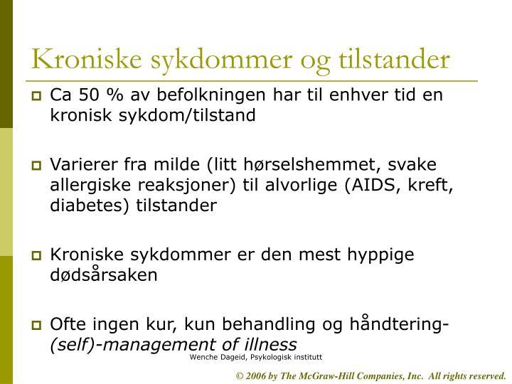 Kroniske sykdommer og tilstander